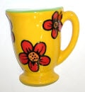coffeemug3dyellowflower